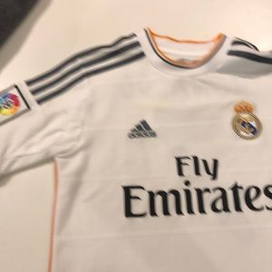 Boys Real Madrid Official Jersey